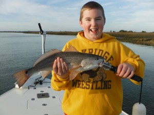 Jack with one of the Reds he caught.